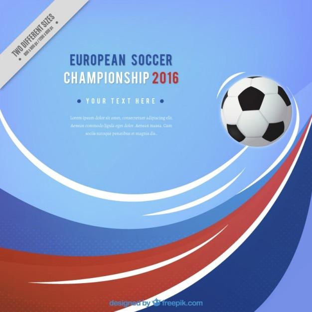 Européenne de football championnat de fond avec des vagues Vecteur gratuit
