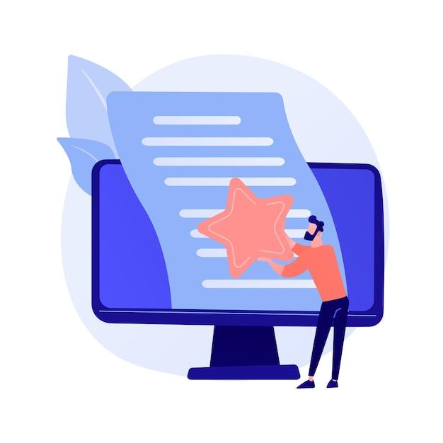 Évaluation D'article, édition. Blogging Internet, Gestion De Contenu, Optimisation Des Moteurs De Recherche. Marketing Seo, élément De Conception D'idée De Rédaction. Vecteur gratuit