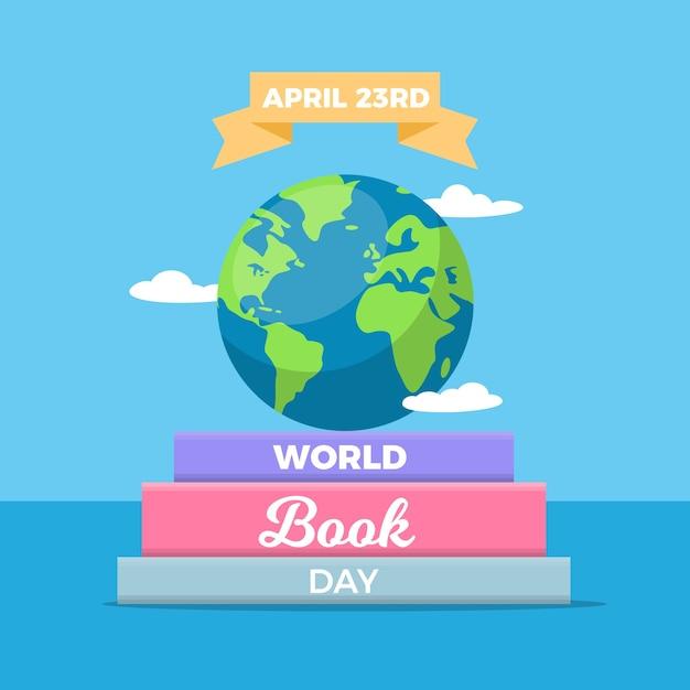Événement De La Journée Mondiale Du Livre Design Plat Vecteur gratuit
