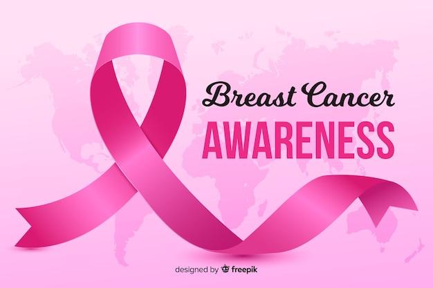 Événement de sensibilisation au cancer du sein de conception réaliste Vecteur gratuit
