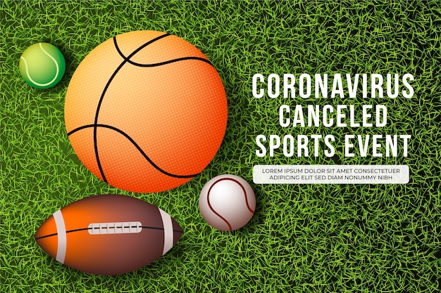 Événements Sportifs Annulés - Contexte Vecteur gratuit