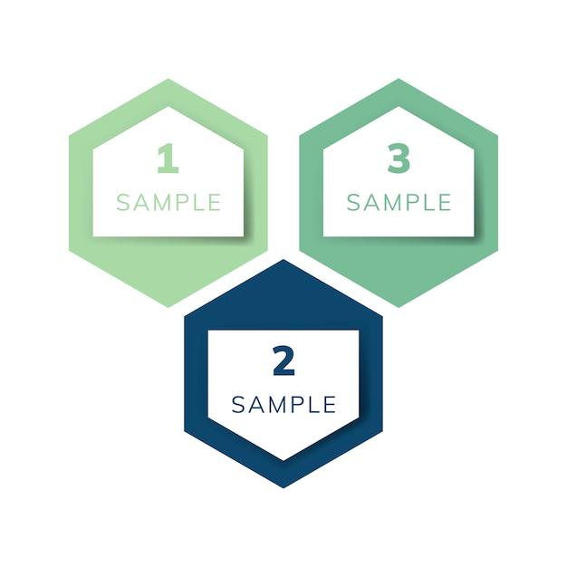 Exemple de graphique infographie entreprise vecteur Vecteur gratuit