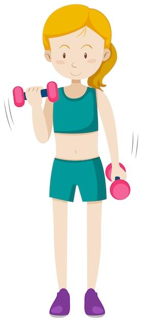 Un Exercice De Musculation De Fille | Vecteur Gratuite
