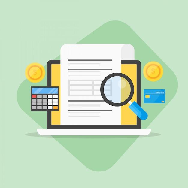 Expérience en comptabilité d'entreprise Vecteur Premium