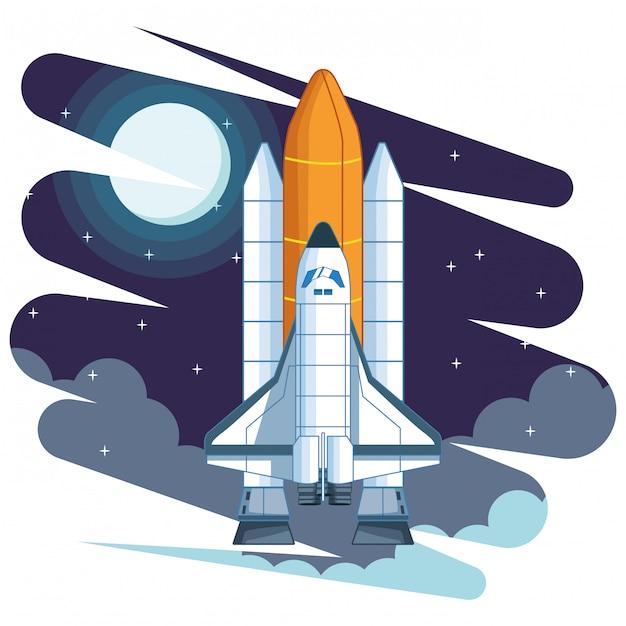 Exploration de l'espace et dessin de planètes Vecteur Premium