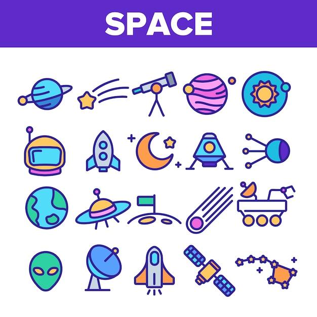 Exploration de l'espace Vecteur Premium