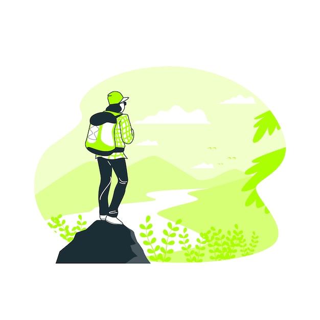 Explorer L'illustration Du Concept Vecteur gratuit