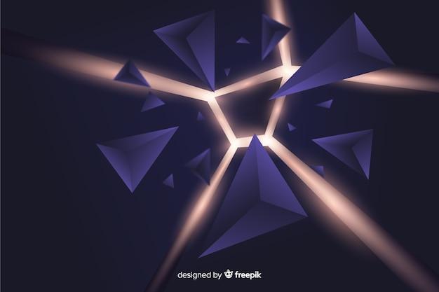 Explosion 3d avec fond clair Vecteur gratuit
