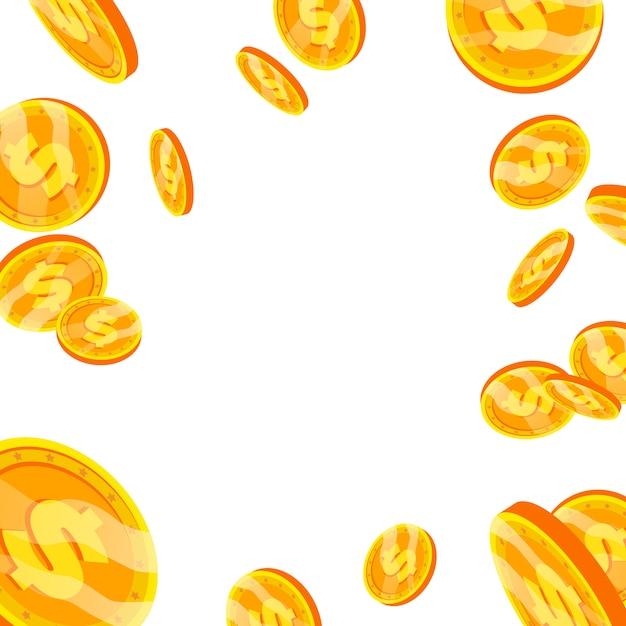 Explosion en baisse de dollar Vecteur Premium
