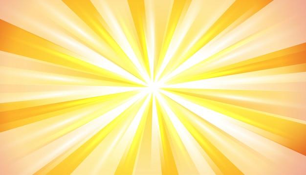 Explosion De Lumière Du Soleil D'été Jaune Orange Vecteur gratuit