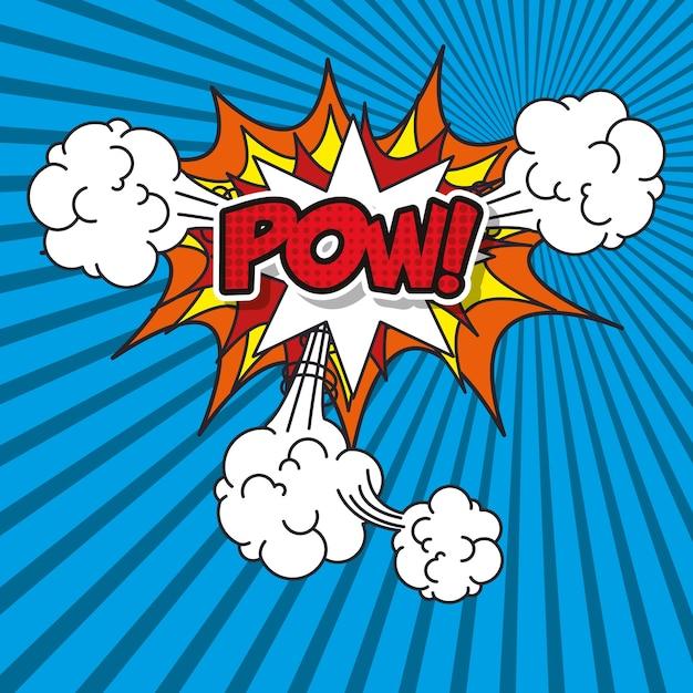 Explosion pop art style vector illustration design Vecteur Premium