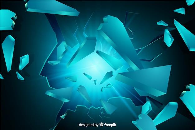 Explosion tridimensionnelle avec fond clair Vecteur gratuit