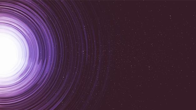 Explosion Ultraviolette Spiral Galaxy Background.planet Et Concept De Physique. Vecteur Premium