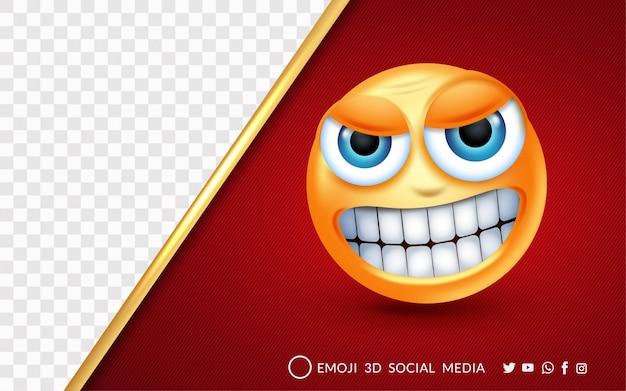 L'expression Emoji Est Très En Colère Vecteur Premium