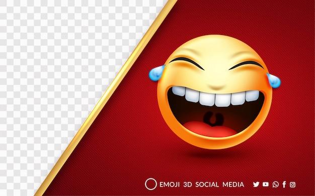 Expression Emoji Rire à Haute Voix Vecteur Premium