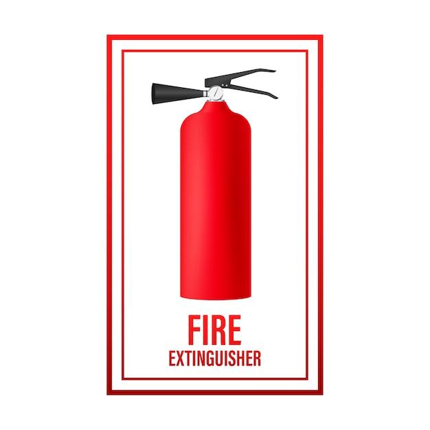 Extincteur Visant Le Feu. Symbole De Protection. Vecteur Premium