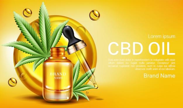 Extrait de cannabinoïde de chanvre bannière Vecteur gratuit