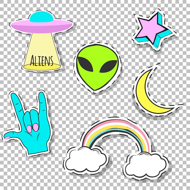 Extraterrestres Vecteur Premium