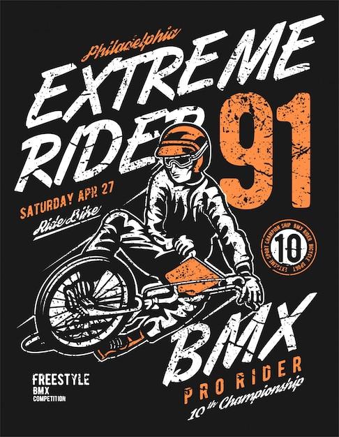Extreme rider Vecteur Premium