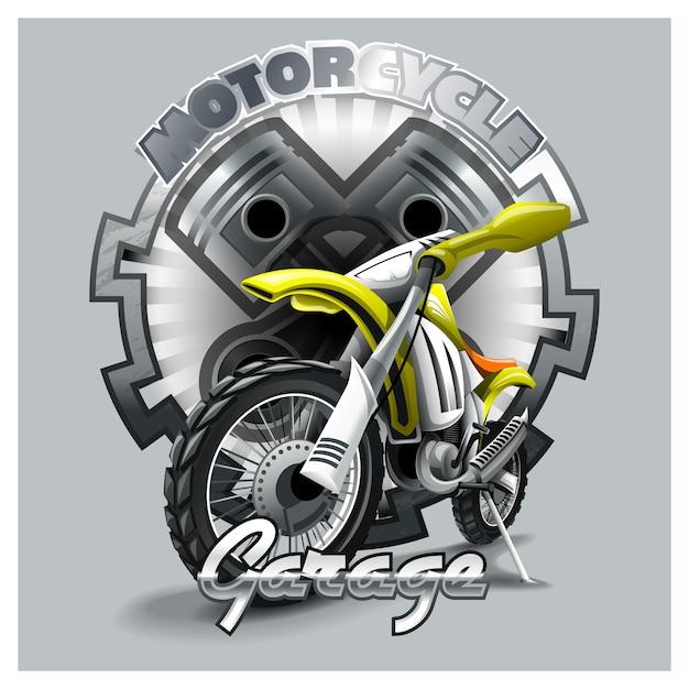 Extrême rouge off road moto Vecteur Premium