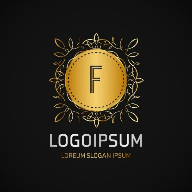 F ornement logo Vecteur gratuit