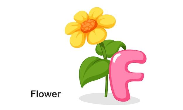 F pour fleur Vecteur Premium