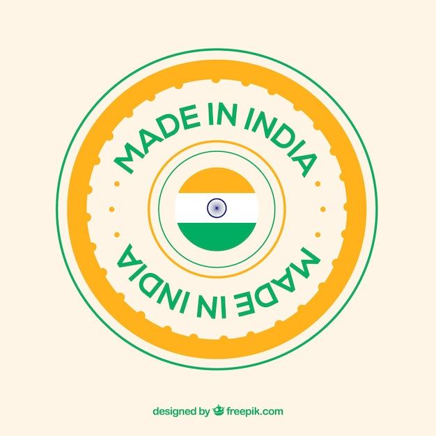 Fabriqué En Inde Vecteur Premium