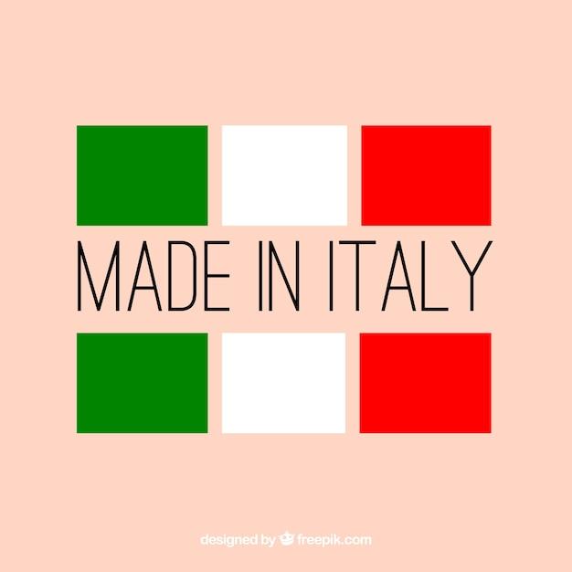 Fabriqué en italie Vecteur gratuit