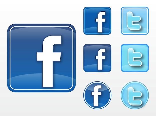 Préférence Facebook twitter vecteurs de communication | Télécharger des  AT33