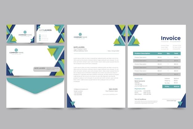 Facture Papier D'entreprise Et Carte De Visite Vecteur gratuit