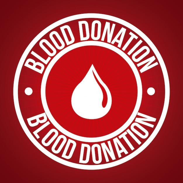 Faire un don de sang Vecteur Premium