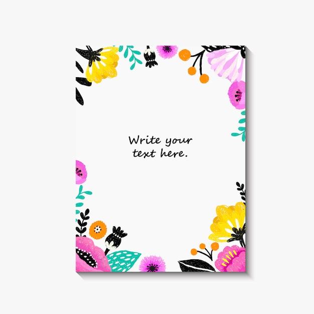 Faire Part De Mariage Ou Carte D Anniversaire Invitation Florale Carte Moderne Vecteur Premium