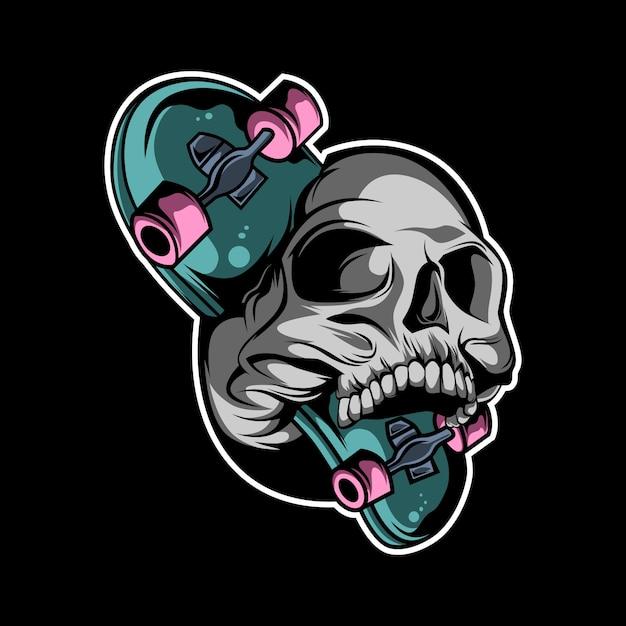 Fais du skate ou meurs Vecteur Premium