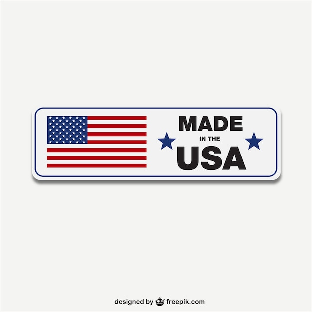 Fait En Vecteur D'étiquettes Usa Vecteur gratuit