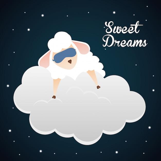 Faites de beaux rêves. Vecteur Premium