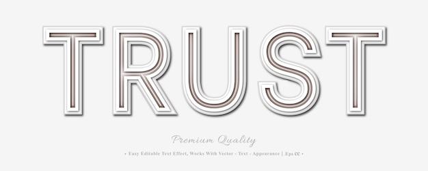 Faites Confiance à L'effet De Style De Police 3d Vecteur Premium