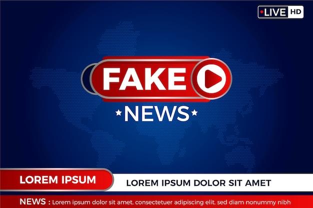 Fake News Sur La Carte Du Monde En Direct Vecteur gratuit