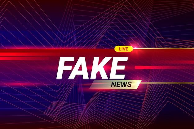 Fake Stream En Direct Vecteur gratuit