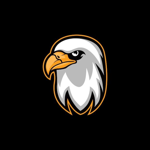 Falcon eagle vector illustration logo de la mascotte esport Vecteur Premium