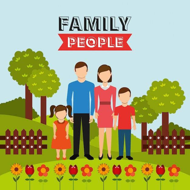 Famille design Vecteur gratuit