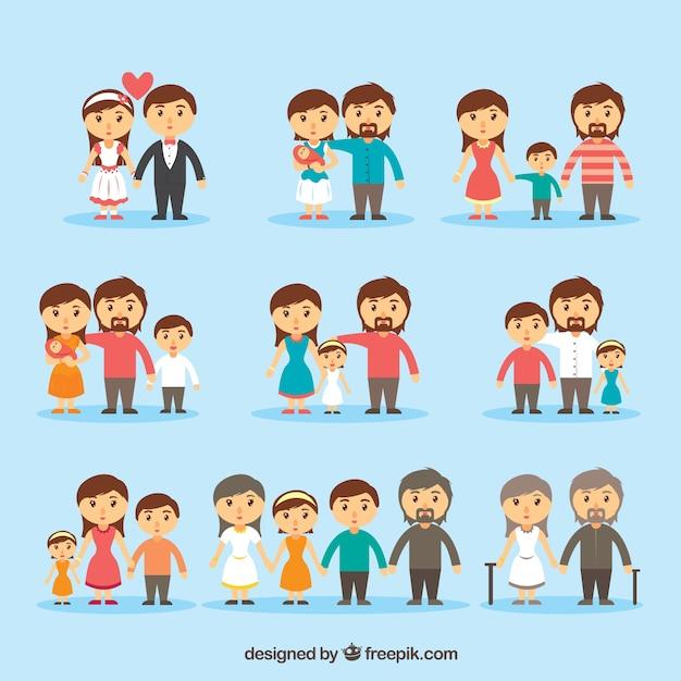 Famille icon collection Vecteur gratuit