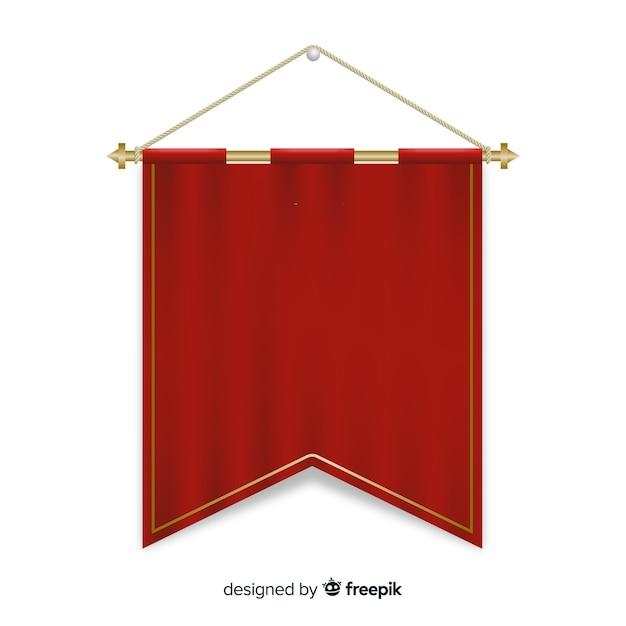 Fanion textile Vecteur gratuit