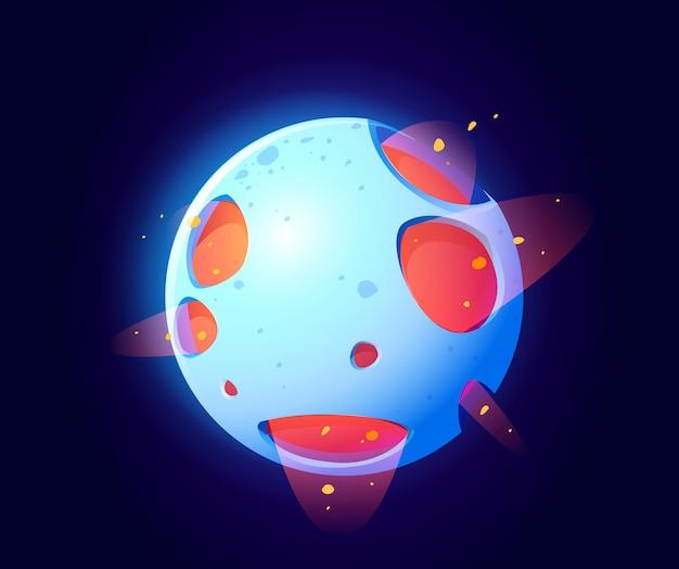 Fantastique Planète Spatiale Pour Le Jeu Ui Galaxy Vecteur gratuit