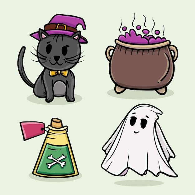 Fantôme Halloween Vecteur gratuit