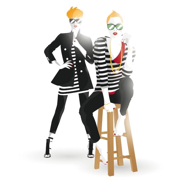 Fashion Adolescente. Vecteur Premium