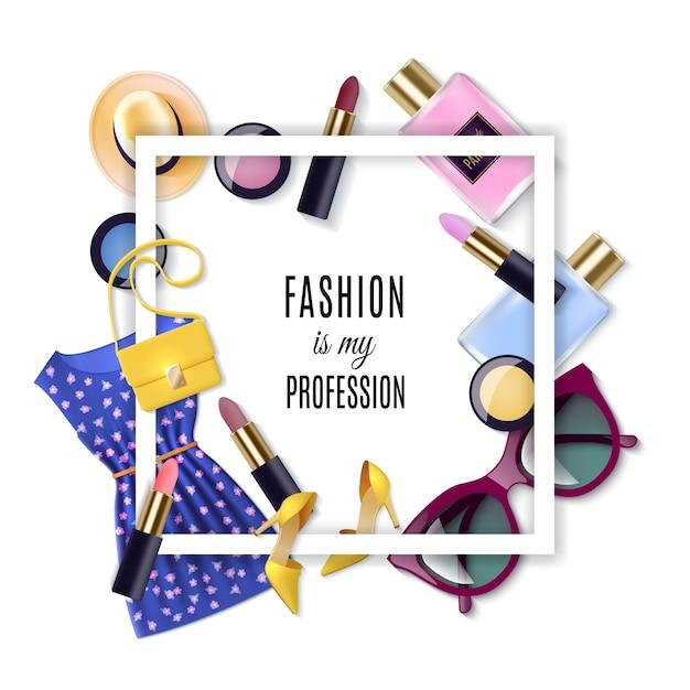 Fashion concept set Vecteur gratuit