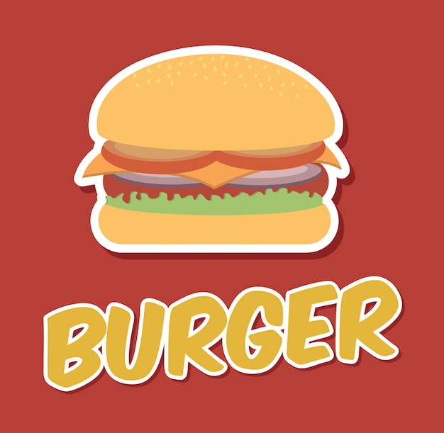 Fast food Vecteur gratuit