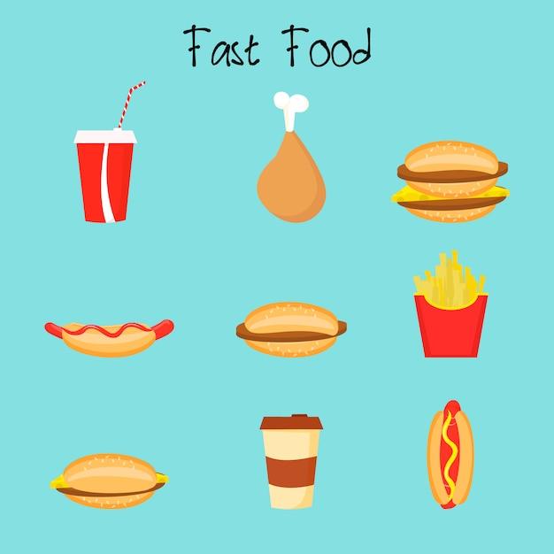 Fast food Vecteur Premium