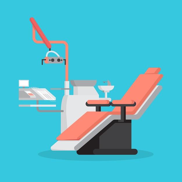 Fauteuil Dentaire Et équipement Médical Pour Les Dents Vecteur Premium
