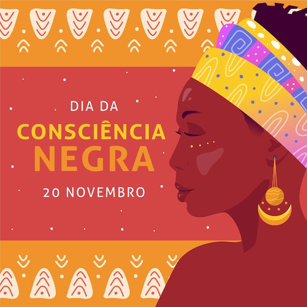 Femme Aux Yeux Fermés Journée De Sensibilisation Noire Vecteur Premium